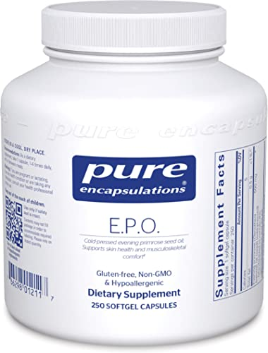 Pure Encapsulations – E.P.O. Evening Primrose Oil – Hypoallergenic Dietary Supplement Containing 9 GLA – 250 Softgel Capsules