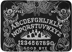 Bath Mat Spirit Witch Board Black Gothic Goth Occult Witchcraft Bathroom Decor Rug 16