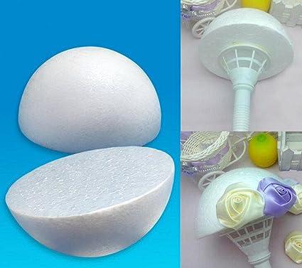 WellieSTR 1piece Large Half Round Solid Polystyrene Foam Balls for  Christmas Wedding Modelling Kids Craft 20inch(50cm)