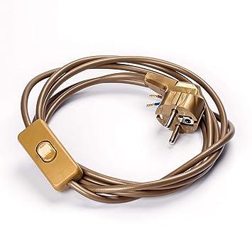 Anschlussleitung Zuleitung mit Zwischenschalter Stecker Netzkabel Stromkabel
