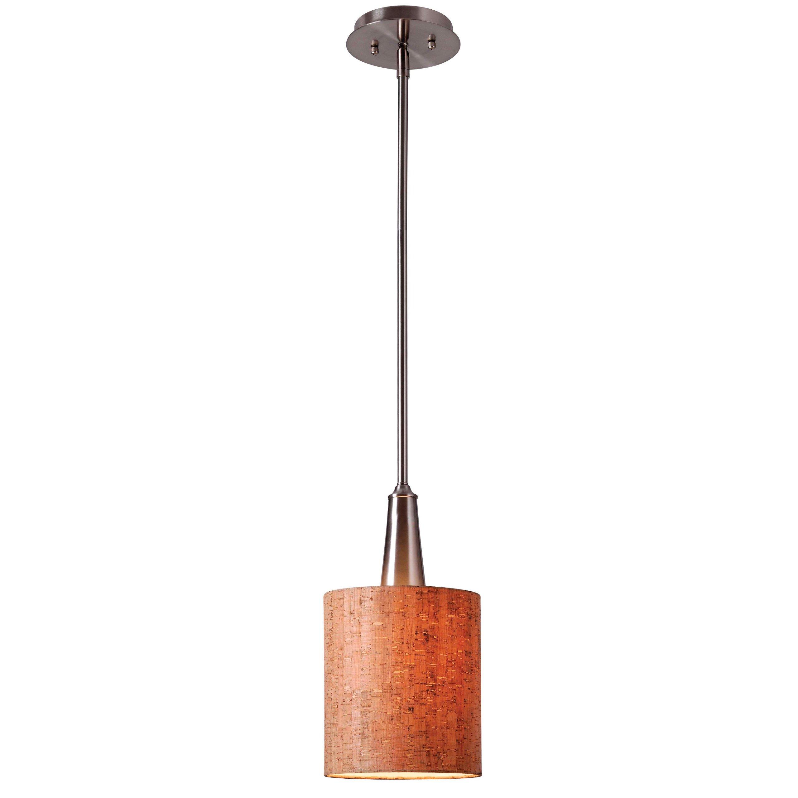 Kenroy Home 93011BS Bulletin 1-Light Mini Pendant, Brushed Steel