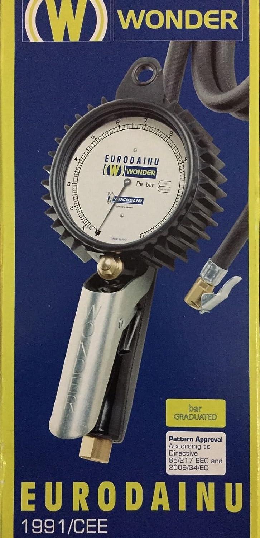 Wonder Blaspistole Eurodainu 1991 Cee By Michelin Reifendruck 0 7 12 Bar Ø80mm Manometer 150 Cm Schlauch Auto