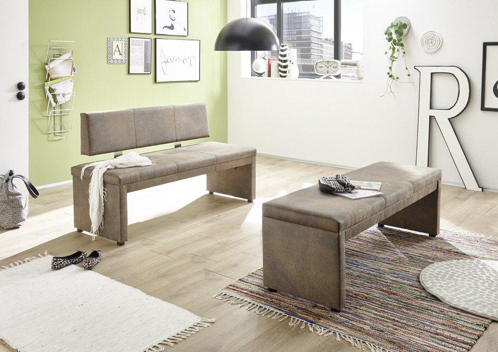 150 cm breit Bank Sitzbank Küchenbank Tischgruppe anthrazit  Rückenlehne ca