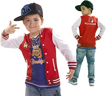 Disfraz Camiseta de Rapero Original de Carnaval para niño de 4-6 ...