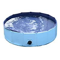 PawHut – Piscina per Cani in Plastica Bordo Stabile per Animali Domestici Blu 120 x 30 cm (ØxH)
