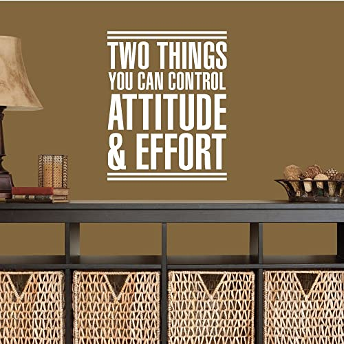 Amazon.com: Two Things You Can Control Attitude & Effort. - 0385 ...