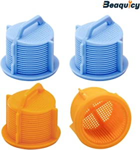 AGM73269501 Washer Water Inlet Valve Filter Screen by Beaquicy - Replacement for Kenmore LG Washing Machine - Inlet Valve for 4 Pack Set