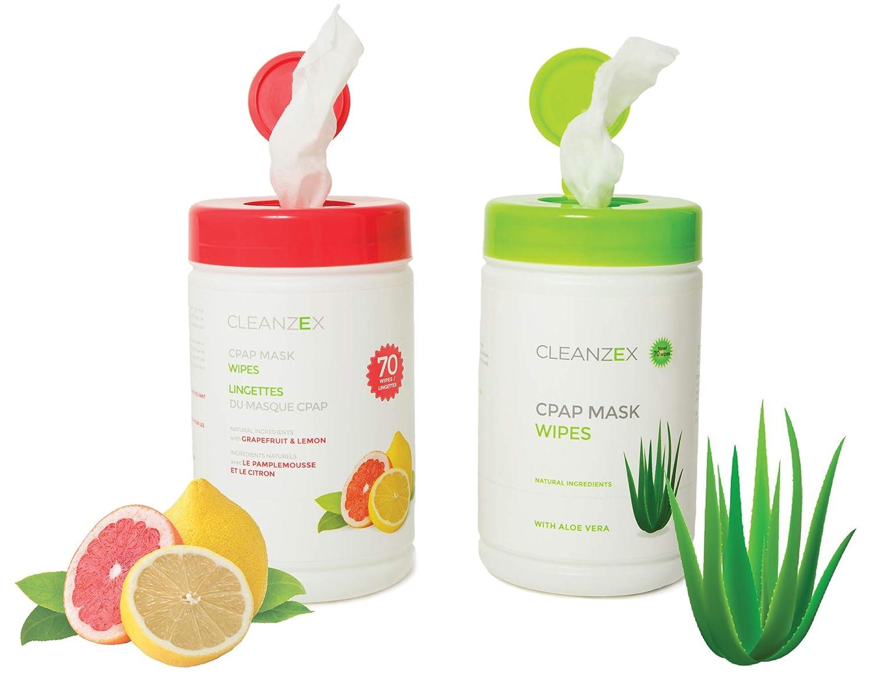 cleanzex 100% algodón máscara CPAP toallitas húmedas con Aloe Vera Sin aroma, 70 toallitas: Amazon.es: Hogar