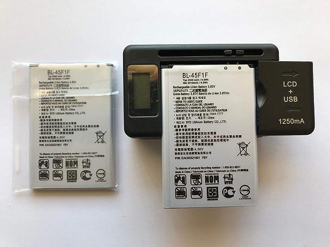 Amazon.com: Repuesto 2X Batería + 1X USB LCD Cargador ...