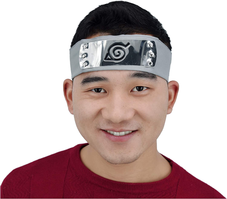 BEST KAKASHI HEADBAND Forehead Protector looks like Naruto Anime Cosplay Sasuke