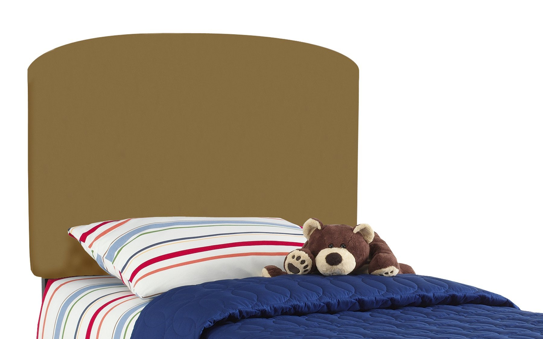 Skyline Furniture Lauren'S Twin Kids Headboard By In Khaki Brown Cotton