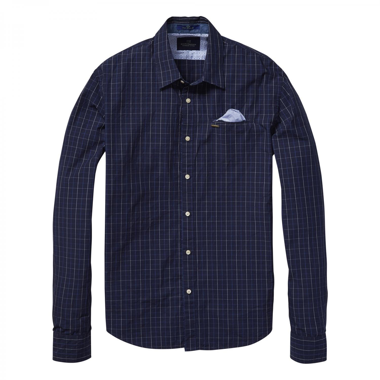 Scotch & Soda Herren Langarm Hemd Longsleeve Shirt 101430
