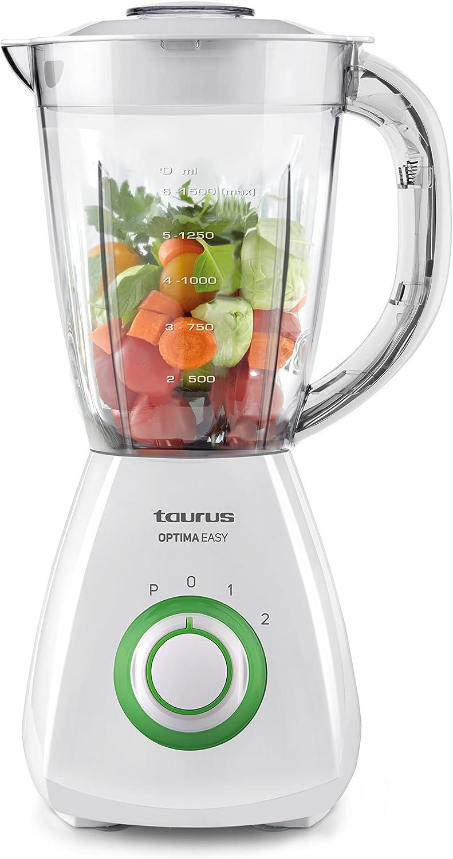 Taurus Optima Easy Batidora de vaso, 450 W, De plástico, 2 ...