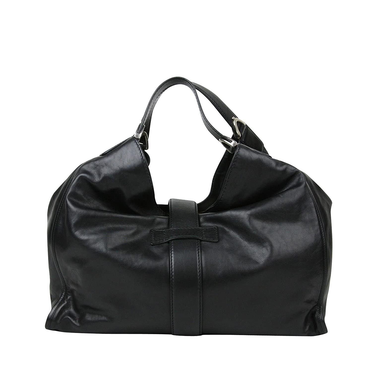 d20dc2b76 Amazon.com: Gucci Stirrup Black Calf Leather Large Hobo Bag Handbag 296855  1000: Shoes