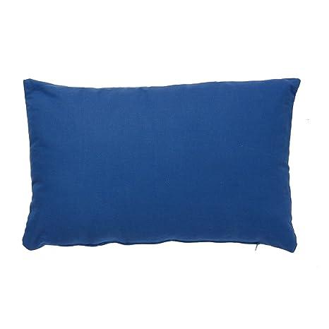 B&H Funda de Cojín, Algodón, Azul, Individual, 50x30x2 cm: Amazon.es: Hogar