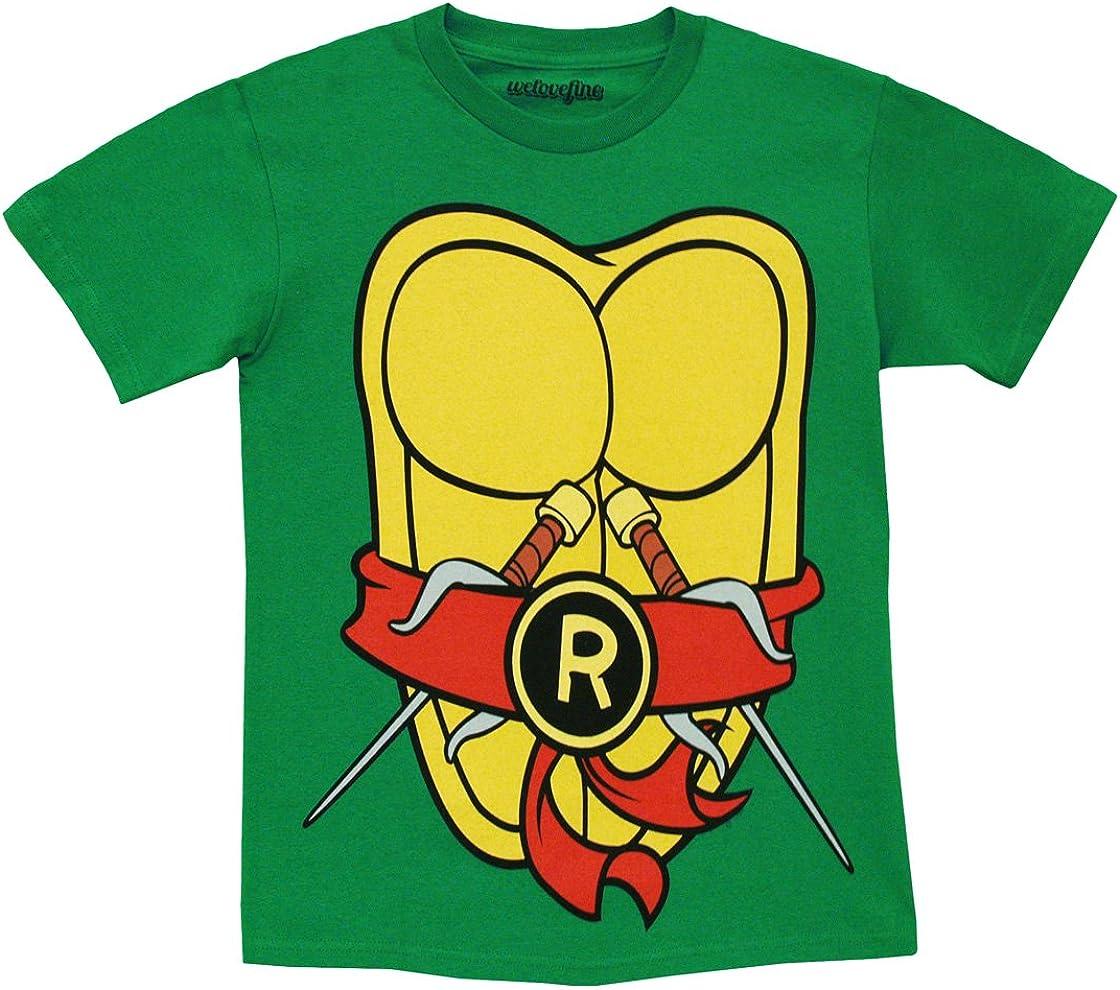 Mighty Fine TMNT Teenage Mutant Ninja Turtles Raphael Costume Green Adult T-shirt Tee (Small)