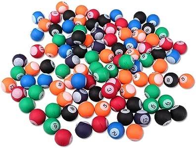 S/o 100 unidades pelotas bola diseño de billar 27 mm flummis ...