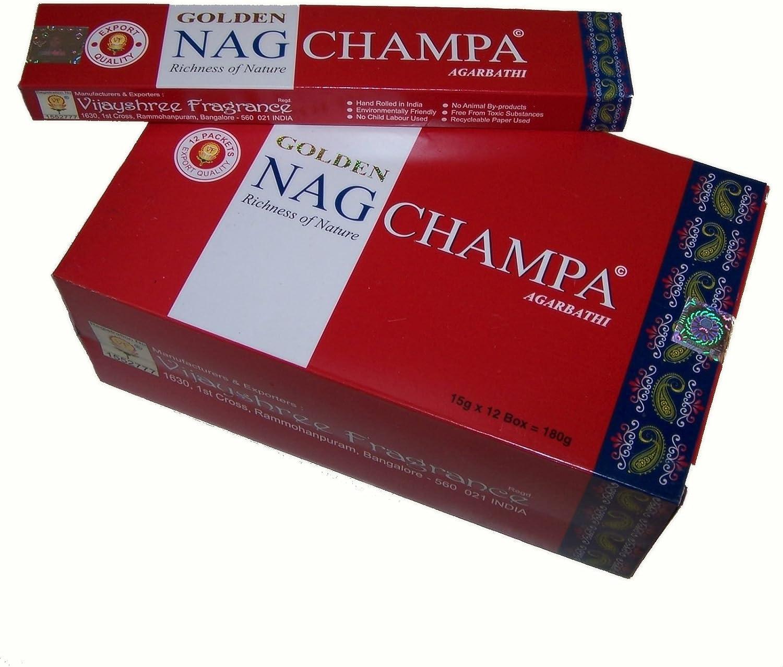 Varillas de incienso Golden Nag Champa 180g aroma fragancia ambientador