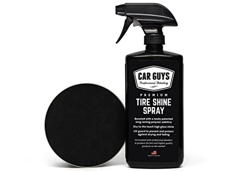 Tire Shine Spray - Best Tire Dressing Car Care Kit for Car Tires After a  Car Wash - Car Detailing Kit for Wheels and Tires with Included Tire Shine