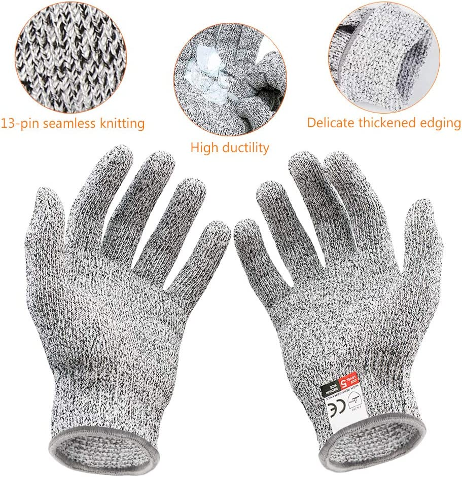 lebensmittelecht Etmury Schnittsichere Handschuhe f/ür Kinder Multiple w/ählbare Gr/ö/ßen Geeignet f/ür 5-10J/ährige Leistungsf/ähiger Level 5 Schutz