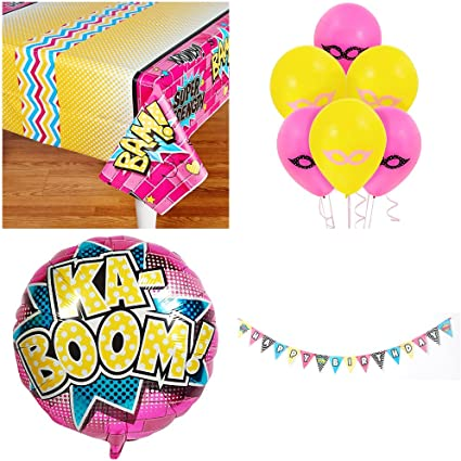 Amazon.com: Super Hero - Kit de decoración de cumpleaños ...