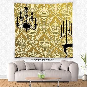 Amazon.com: VROSELV custom tapestry Damask Decor Tapestry English ...