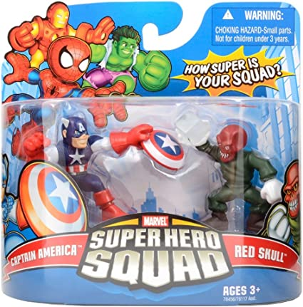 Marvel Super Hero Squad Captain America and Red Skull 2-Pack: Amazon.es: Juguetes y juegos
