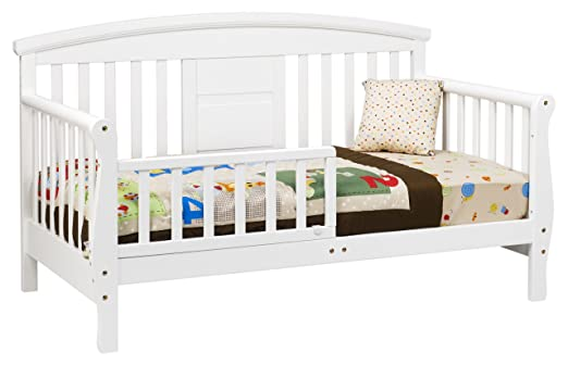 Amazon DaVinci Elizabeth II Convertible Toddler Bed In White Wood Baby
