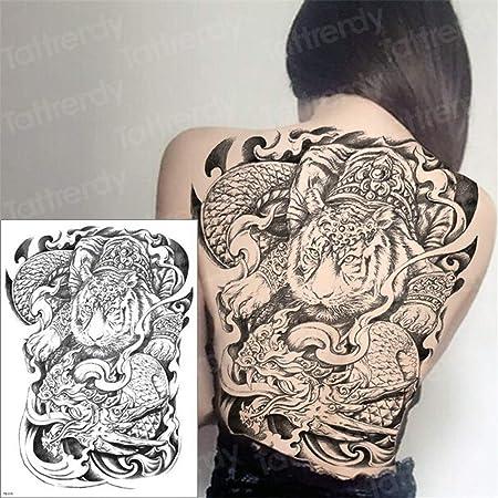 tzxdbh 3pcs Tatuaje Temporal de Las Mujeres Tatuaje Grande Geisha ...