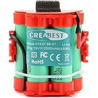 Creabest para Robot Cortador de Césped Husqvarna Automower 105 305 308 Reemplazo Batería de Li-ion de 18V 2500mAh…