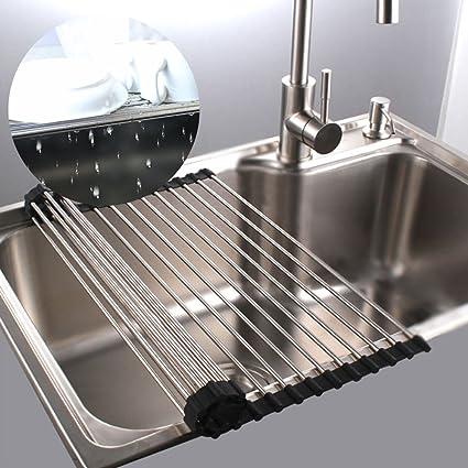 Scolapiatti per lavello cucina acciaio inox sopra il lavandino ...
