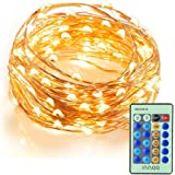 Le cadena de luces led 10m alambre de cobre impermeable 100 led blanco c lido guirnalda de Luces navidad exterior sin enchufe