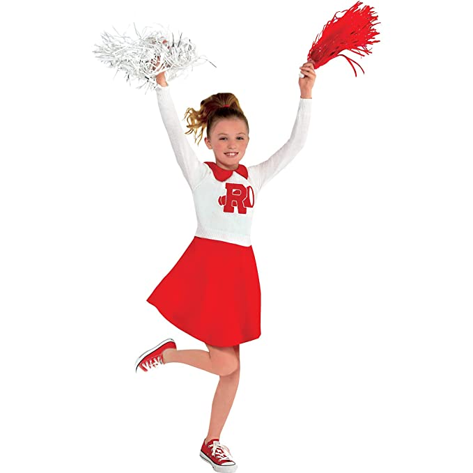Kids 1950s Clothing & Costumes: Girls, Boys, Toddlers Suit Yourself Rydell High Cheerleader Dress for Girls Grease Standard $33.38 AT vintagedancer.com