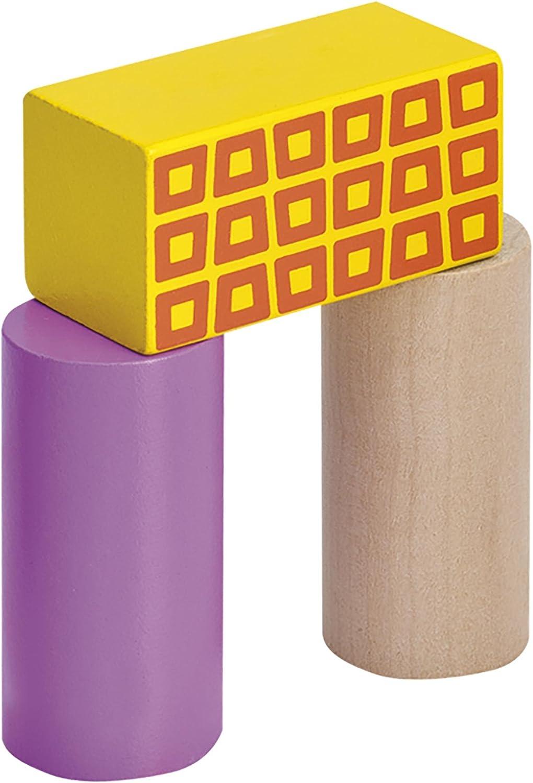 Blocs de Bois Eichhorn Multicolore Jeu Construction Bois 2226