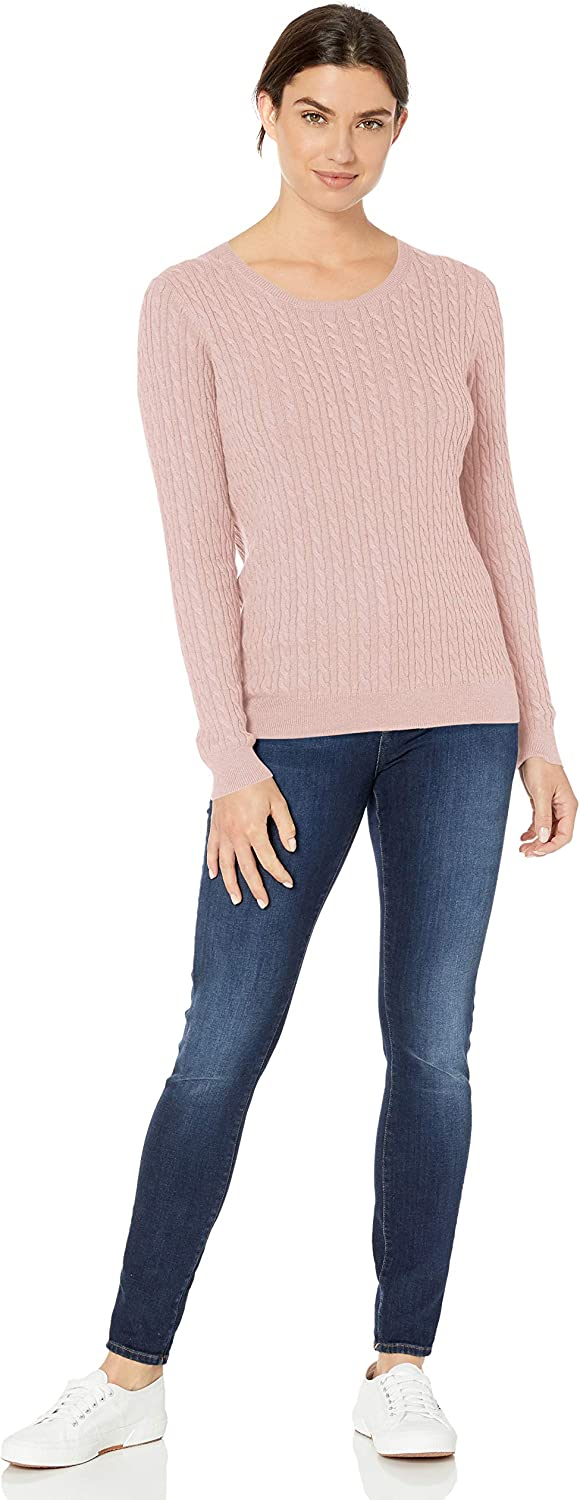 Essentials Lightweight Cable Crewneck Sweater Donna
