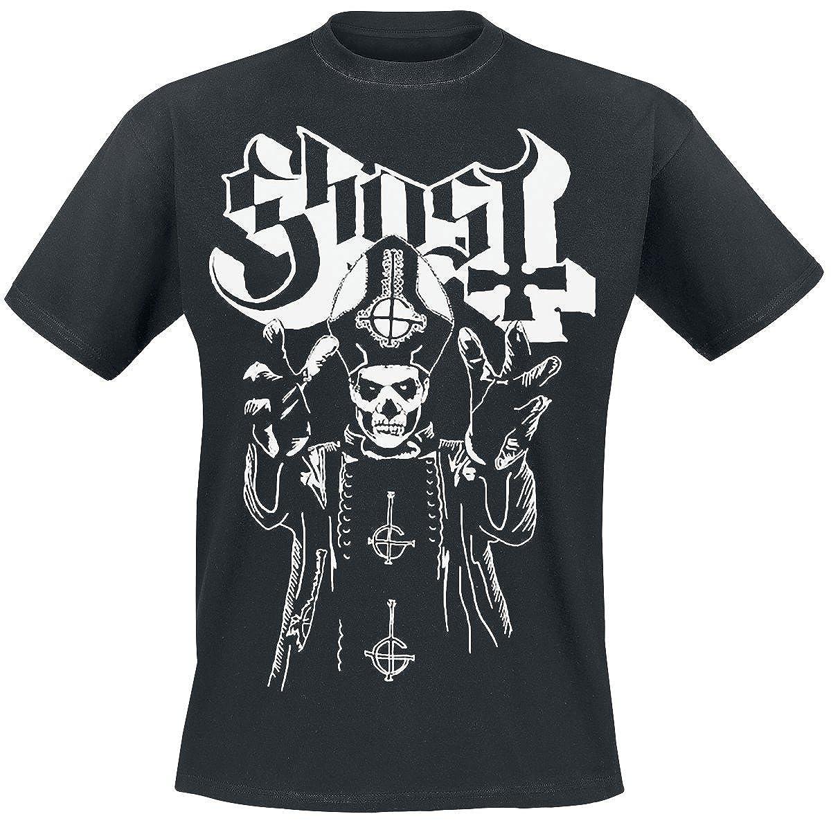 Ghost Popes Wrath T-Shirt Manches Courtes Noir M