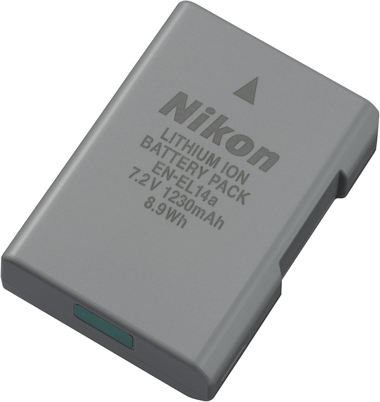 1300mAh D3300 D5300 D5500 D5600 P7700 P7800 Ladegerät A Akku für Nikon EN-EL14