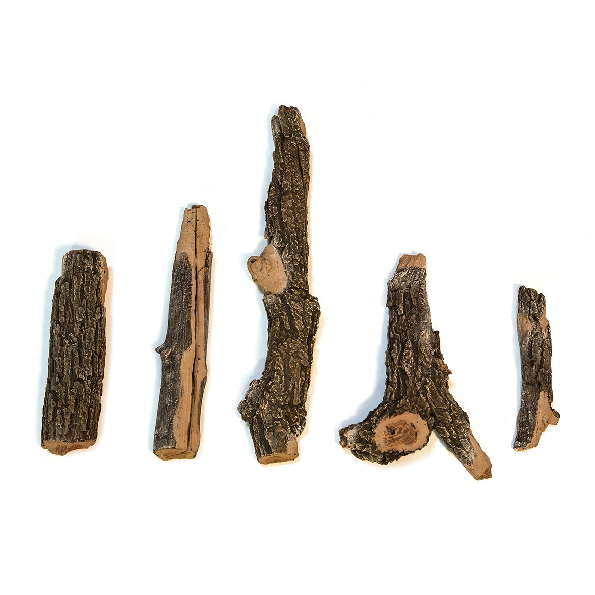 Midwest Hearth Gas Logs Deluxe Decorative Branch and Twig Set | Cast From Real Logs and Hand Painted in USA (Oak 5-Piece)