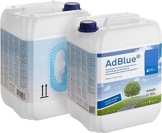 A G Heute Adblue 20l Hochreine Scr Harnstofflösung 2x10 Liter Mit Ausgießer Reduktion Aus Abgasen Von Stickoxiden Für Alle Automarken Im Kanister Auto