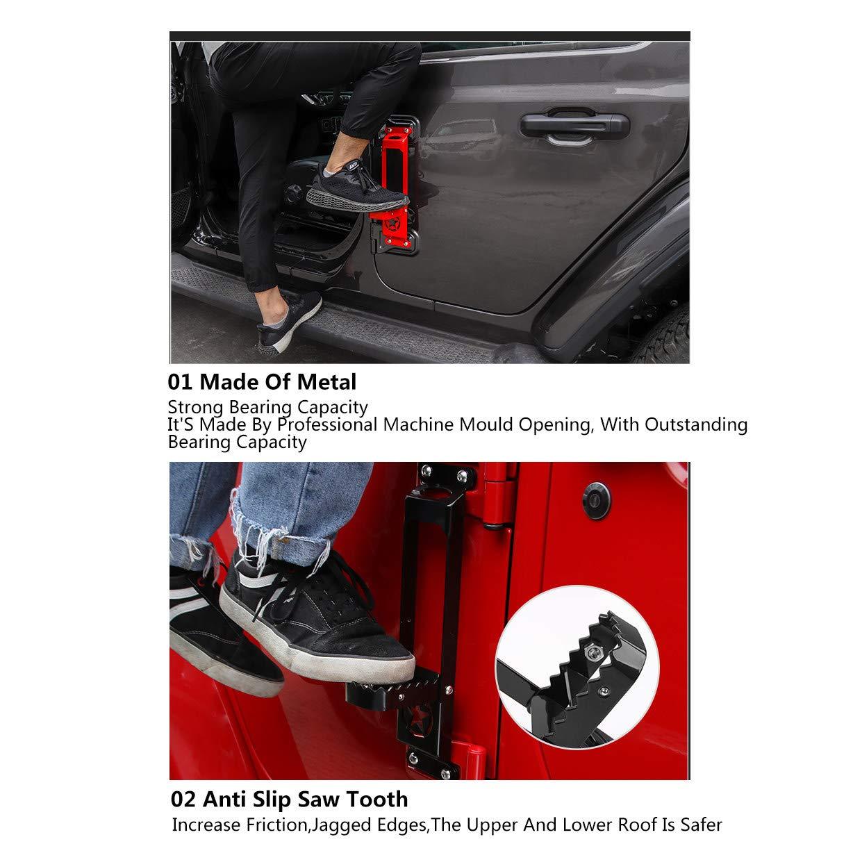 Wrangler JK 2007-2017 ,F/üNf-Sterne-Modelle Auf Und Ab Autozubeh/öR,BlackA-2 CHHMAELOVE Auto-Pedal F/üR Jeep Wrangler ,Modifiziertes Autot/üRpedal