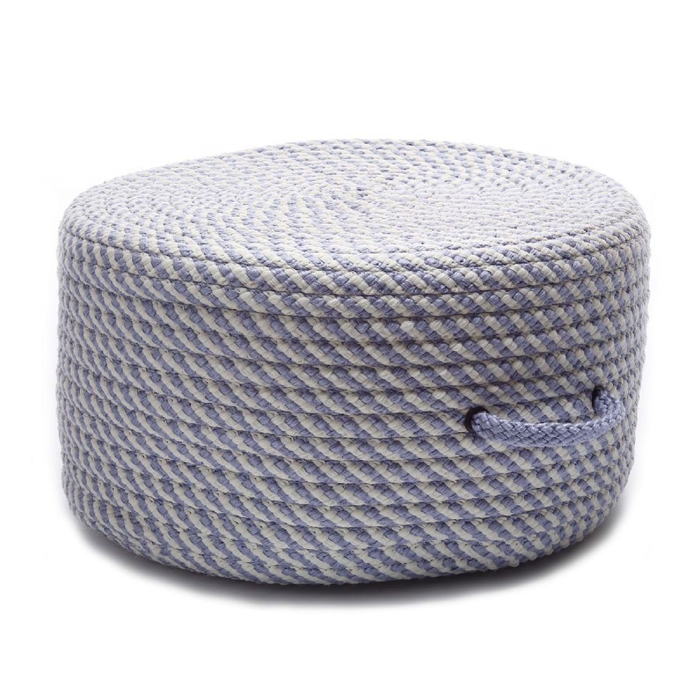 Colonial Mills Braided Round pouf/ottoman 20''x20''x11'' in Amethyst Color From Bright Twist Pouf Collection
