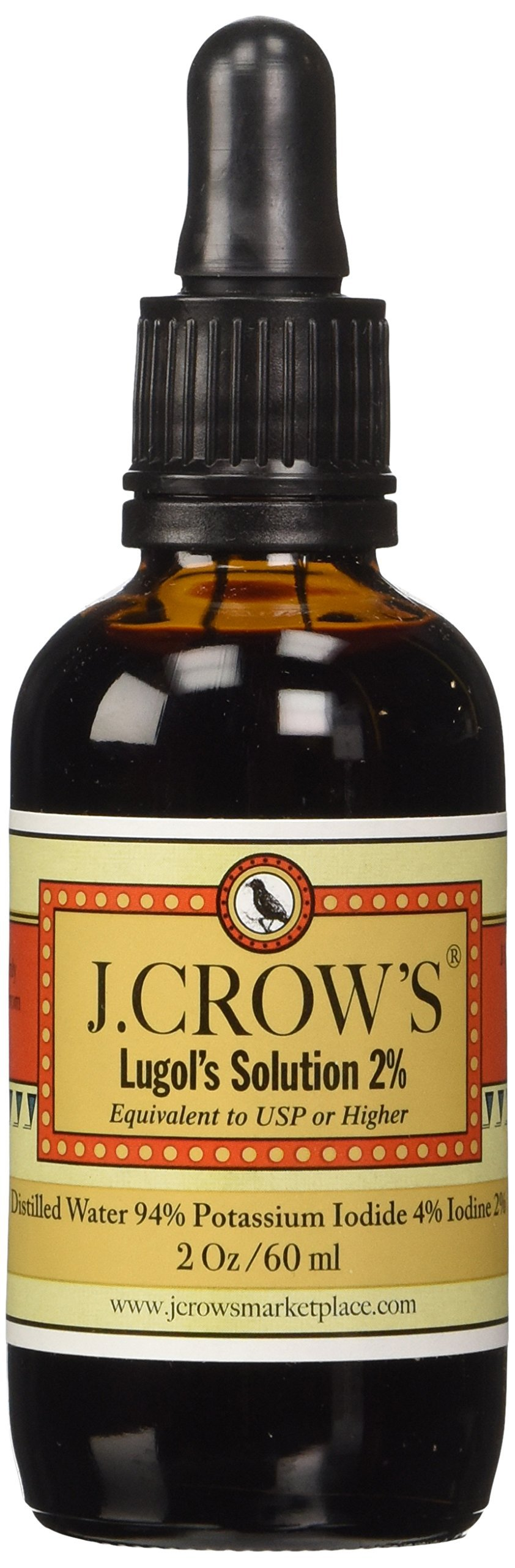 J.Crow's Lugol's Iodine Solution 2 Oz. Twin Pack (2 Bot.) 2 Bottles 6
