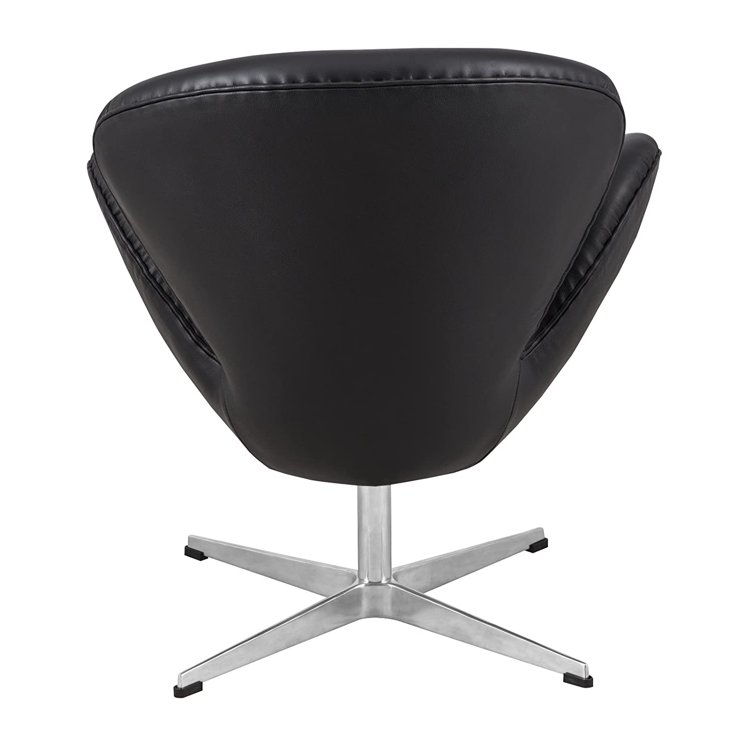 Amazon.com: LeisureMod Arne Jacobsen Style Modern Swan Accent Chair In  Black Leather: Kitchen U0026 Dining