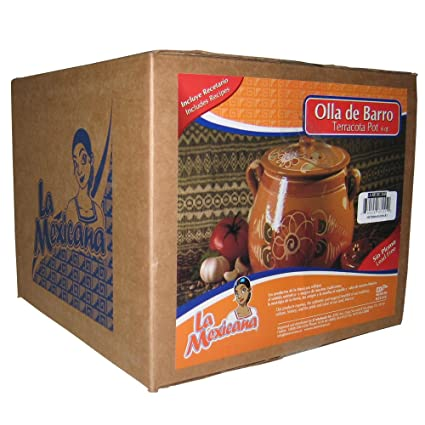 Amazon Com La Mexicana Olla De Barro Pot 6 Quart Mexican Clay