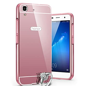 LXHGrowH Funda Espejo Aluminio Metal Carcasa para Huawei Y6 II/Honor 5A 5.5