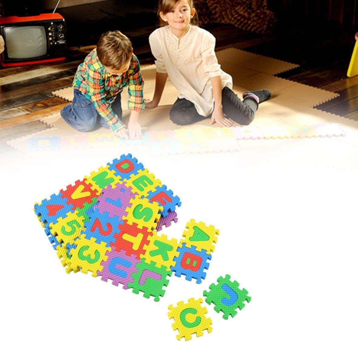 Pennytupu 36 pezzi di puzzle colorato per bambini giocattolo educativo alfabeto lettere AZ schiuma numerica tappetino da gioco tappetino strisciante per bambini auto-assemblato
