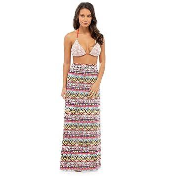 5cadbb2e3d Image Unavailable. Image not available for. Color: Ladies Beachwear Aztec  Print Polycotton Fashion Maxi ...
