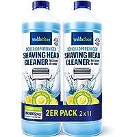 Limpiador de cabezales de afeitado para cartucho compatible con Braun – Afeitadora eléctrica 2x 1.000ml
