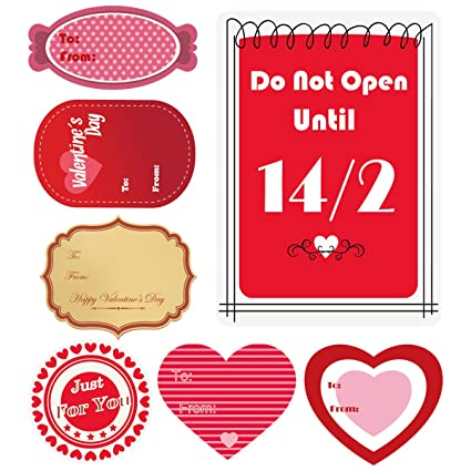 Amazon Com Cualfec Valentine S Day Gift Tag Stickers Valentine S