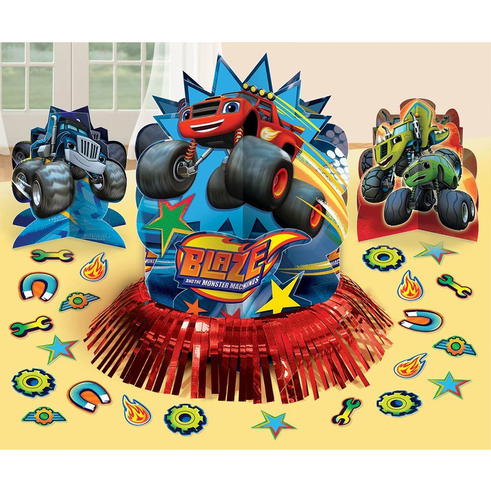 Amscan Blaze and The Monster Machines Table Centerpiece Decorating Kit | Pack of 2